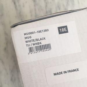 Isabel Marant Accessories - NWT Isabel Marant enamel black and white mug